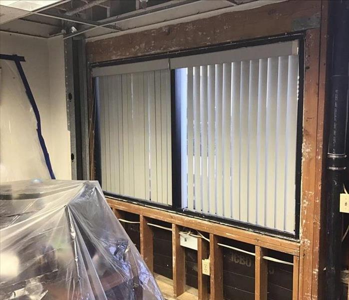 Wet drywall removed from Medical Office